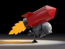 Robot avec la fusée Photos stock