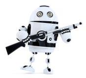 Robot avec le fusil de chasse Concept de technologie illustration 3D contenez illustration stock