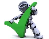 Robot avec le symbole illustration stock