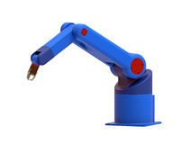 Robot 6 axis 3d render. Robot 6 axis, 3d render isolated on white Royalty Free Stock Images