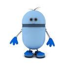 Robot azul Imagen de archivo libre de regalías