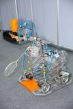 Robot badminton hitter Stock Photography
