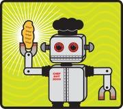 Robot Baker stock photo