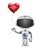 Robot With Balloon Heart. Vector Royalty Free Stock Image