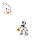 Robot Basketball player Royalty Free Stock Photo
