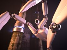 Robot battle Royalty Free Stock Photo