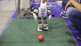 Robot bawić się football_5 zbiory