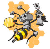 Robot bee royalty free illustration