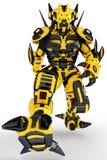 Robot bee walking Royalty Free Stock Photo