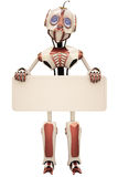 Robot billboard Stock Photo
