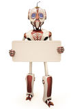 Robot billboard Stock Photography