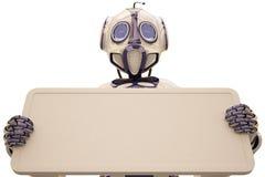 Robot billboard Stock Image