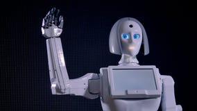 Robot bionique déplaçant son bras indiquant au revoir