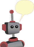 Robot with blank chat bubble Stock Photography
