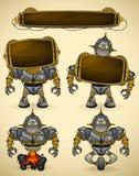 Dispositifs bleus de robot de cru Photos stock