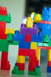 Robot Blocks 01. A children building blocks toy stacked as a robot. Can be used for alien or robot invation concept. More in my gallery Stock Photography