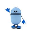 Robot blu Immagine Stock