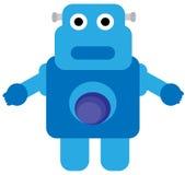 Robot blu Immagini Stock