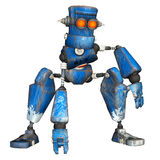 Robot blu. 8 Fotografie Stock