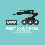 Robot Bomb Disposal. Royalty Free Stock Image