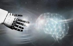 Robot brain contact Stock Image