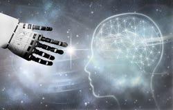 Robot brain contact stock images