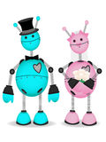 Robot Bridge and Groom stand together Royalty Free Stock Photos