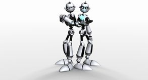 Robot brothers Stock Photo