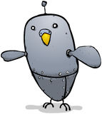 Robot budgie cartoon character Royalty Free Stock Photography