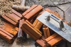Robot budowlany majątkowy pojęcie zdjęcia stock