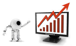 Free Robot Business Graph Stock Images - 28897764