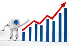 Robot Business Graph Royalty Free Stock Photo
