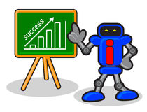 Robot businessman Royalty Free Stock Photography