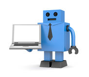 Robot businessman with notebook Royalty Free Stock Photography