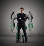 Robot businessman Stock Images