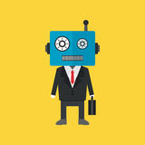 Robot businessman Royalty Free Stock Images