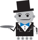 Robot Butler Royalty Free Stock Photos