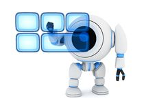 Robot and buttons hologram Stock Image