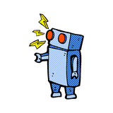 robot cómico de la historieta Imágenes de archivo libres de regalías