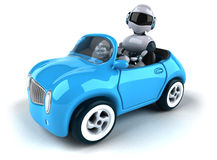 Robot and car Stock Image