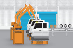 Robot car factory Royalty Free Stock Photography