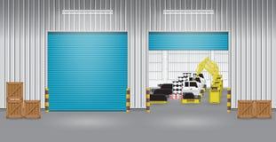 Robot car factory Stock Image