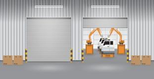 Robot_car_factory Royalty Free Stock Photos