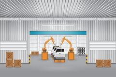 Robot_car_factory Royalty Free Stock Image