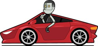 Robot in car Royalty Free Stock Photo