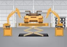 Robot car Royalty Free Stock Photo