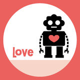Robot card design Royalty Free Stock Photos
