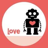 Robot card design Royalty Free Stock Photos