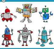 Robot cartoon characters set Royalty Free Stock Images