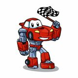 Robot cartoon - robots for kids - car cartoon vector illustration